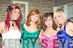 GOWN: Looking colourful on the night of the ITT Tralee Sports Awards on Thursday night in The Earl of Desmond Hotel, Tralee, l-r: Eibhli?n Flynn, Louise O'Connor, Niamh O'Connor and Sarah Rael..