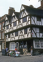 Lincoln: Mid-16th century Merchant's House near Cathedral. Photo '90