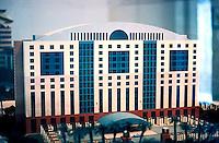 "Michael Graves: ""Aventine"" Model--14 story Hyatt Regency Hotel.  Photo '86."