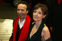 Actor and director Roberto Benigni and actress Nicoletta Braschi at the Berlinale 2006, 56. Internationale Filmfestspiele Berlin / Berlin Film Festival