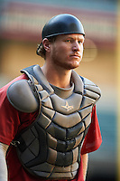 Arizona Diamondbacks Luke Lowery (46) during an Instructional League game against the Oakland Athletics on October 15, 2016 at Chase Field in Phoenix, Arizona.  (Mike Janes/Four Seam Images)