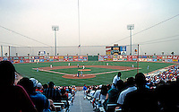 Ballparks: El Paso Cohen Stadium. Panorama from General Admission & Wheelchair seating & Duststorm.
