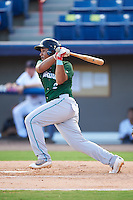 Daytona Tortugas first baseman Avain Rachal (2) at bat during a game against the Brevard County Manatees on August 14, 2016 at Space Coast Stadium in Viera, Florida.  Daytona defeated Brevard County 9-3.  (Mike Janes/Four Seam Images)