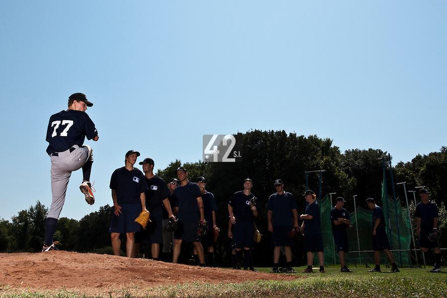 Baseball - MLB Academy - Tirrenia (Italy) - 19/08/2009 - Scott Ronnenbergh (Netherlands)
