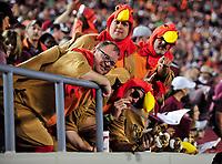 Blacksburg, VA - SEPT 30, 2017: Virginia Tech Hokie fans during game between Clemson and Virginia Tech at Lane Stadium/Worsham Field Blacksburg, VA. (Photo by Phil Peters/Media Images International)