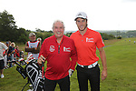 Sir Gareth Edwards partnered with Gareth Bale.<br /> The Celebrity Cup 2015<br /> Celtic Manor Resort<br /> <br /> 04.07.15<br /> &copy;Steve Pope - SPORTINGWALES