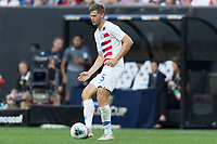 CLEVELAND, OHIO - JUNE 22: Walker Zimmerman during a 2019 CONCACAF Gold Cup group D match between the United States and Trinidad & Tobago at FirstEnergy Stadium on June 22, 2019 in Cleveland, Ohio.