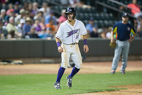 Danny Mendick (17) of the Winston-Salem Dash takes his lead off of third base against the Buies Creek Astros at BB&T Ballpark on June 23, 2017 in Winston-Salem, North Carolina.  The Astros defeated the Dash 3-0.  (Brian Westerholt/Four Seam Images)