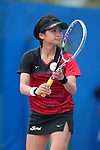 Kurumi Onoue (JPN), <br /> AUGUST 31, 2018 - Soft Tennis : <br /> Women's Team  Preliminary Round <br /> at Jakabaring Sport Center Tennis Courts <br /> during the 2018 Jakarta Palembang Asian Games <br /> in Palembang, Indonesia. <br /> (Photo by Yohei Osada/AFLO SPORT)