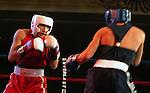 8 June 2007:   Ronny Rios (Red), Santa Ana, California and David Clark (Blue), San Diego, California square off for the Bantamweight crown at the 2007 U.S. Boxing Championships, Colorado Springs, Colorado.