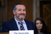 United States Senator Ted Cruz (Republican of Texas) speaks during the U.S. Senate Committee on Energy and Natural Resources hearing considering the nomination of Dan Brouillette to be Secretary of Energy on Capitol Hill in Washington D.C., U.S., on Thursday, November 14, 2019.  <br /> <br /> Credit: Stefani Reynolds / CNP/AdMedia