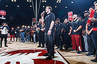 Stanford, CA - Saturday December 16, 2015: Stanford football team honored at half time-during the Stanford vs Tennessee basketball game Wednesday night at Maples.<br /> <br /> The Cardinal defeated the Volunteers 69-55.<br /> .