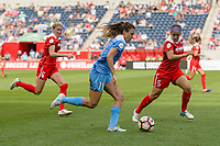Bridgeview, IL - Saturday June 17, 2017: Sofia Huerta, Whitney Church during a regular season National Women's Soccer League (NWSL) match between the Chicago Red Stars and the Washington Spirit at Toyota Park. The match ended in a 1-1 tie.