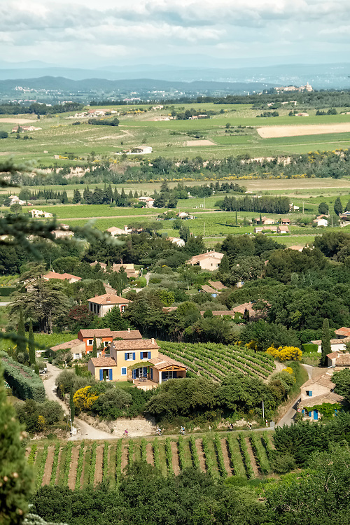 The small villages and vineyards of Cotes du Rhone form a tapestry of quiet harmony.