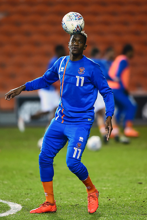 Blackpool's Armand Gnanduillet warms up<br /> <br /> Photographer Richard Martin-Roberts/CameraSport<br /> <br /> The EFL Sky Bet League One - Blackpool v Charlton Athletic - Tuesday 13th March 2018 - Bloomfield Road - Blackpool<br /> <br /> World Copyright &not;&copy; 2018 CameraSport. All rights reserved. 43 Linden Ave. Countesthorpe. Leicester. England. LE8 5PG - Tel: +44 (0) 116 277 4147 - admin@camerasport.com - www.camerasport.com