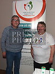 William Mahony and Catherine McCabe from Louth Family Carers Support Group at the Living With Cancer conference in City North hotel. Photo:Colin Bell/pressphotos.ie