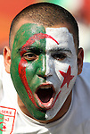 23 JUN 2010:  Algeria fan in the stands.  The United States National Team played the Algeria National Team at Loftus Versfeld Stadium in Tshwane/Pretoria, South Africa in a 2010 FIFA World Cup Group C match.