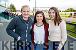 Paula Harmes, Clodagh Hannon Dearbhla Cronin, Listowel, pictured at the Kingdom Greyhound Stadium, Tralee on Saturday evening last.