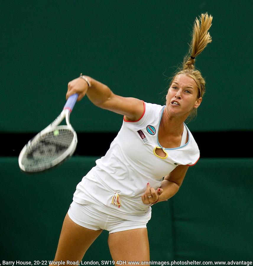 DOMINIKA CIBULKOVA (SVK) (24) against MARIA SHARAPOVA (RUS) (5) in the Quarter Finals of the Ladies Singles. Maria Sharapova beat Dominika Cibulkova 6-1 6-1..Tennis - Grand Slam - Wimbledon - AELTC - London- Day  - Tues June 28th  2011..© AMN Images, Barry House, 20-22 Worple Road, London, SW19 4DH, UK..+44 208 947 0100.www.amnimages.photoshelter.com.www.advantagemedianetwork.com.