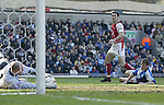 Martin Keown of Arsenal  looks on as his effort is saved by Brad Friedel - Blackburn Rovers v Arsenal - Premier League - Ewood Park Stadium - Blackburn - 15th March 2003 - Pics Simon Bellis