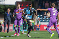 Gozie Ugwu of Wycombe Wanderers  on his debut during the Sky Bet League 2 match between Wycombe Wanderers and Plymouth Argyle at Adams Park, High Wycombe, England on 12 September 2015. Photo by Andy Rowland.