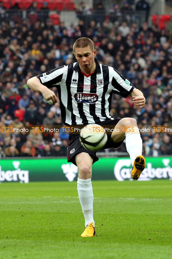 Richard Brodie of Grimsby Town - Wrexham vs Grimsby Town - FA Challenge Trophy Final at Wembley Stadium, London - 24/03/13 - MANDATORY CREDIT: Gavin Ellis/TGSPHOTO - Self billing applies where appropriate - 0845 094 6026 - contact@tgsphoto.co.uk - NO UNPAID USE.