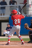Nico Vasquez (26) of the Johnson City Cardinals at bat at Dan Daniels Park in Danville, VA, Sunday July 27, 2008.