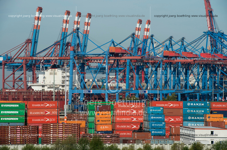 GERMANY, Hamburg, HHLA container Terminal in port / DEUTSCHLAND, Hamburg, HHLA container Terminal im Hafen