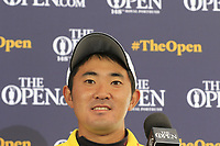 Takumi Kanaya (AM)(JPN) after finishing Thursday's Round 1 of the 148th Open Championship, Royal Portrush Golf Club, Portrush, County Antrim, Northern Ireland. 18/07/2019.<br /> Picture Eoin Clarke / Golffile.ie<br /> <br /> All photo usage must carry mandatory copyright credit (© Golffile | Eoin Clarke)