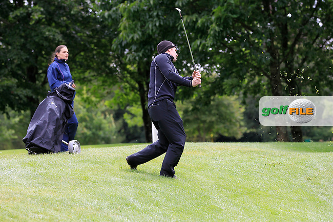 Mark Shanahan (Castlemartyr) on the 2nd during round 1 of The Mullingar Scratch Cup in Mullingar Golf Club on Sunday 3rd August 2014.<br /> Picture:  Thos Caffrey / www.golffile.ie