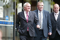 20/09/207 .An Taoiseach Bertie Ahern TD leaving the Mahon Tribunal at Dublin castle, Dublin.. Photo: Collins Photos