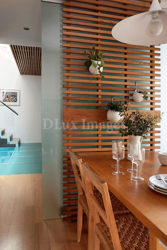 contemporary wooden dining set