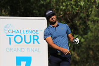 Antoine Rozner (FRA) on the 7th tee during Round 1 of the Challenge Tour Grand Final 2019 at Club de Golf Alcanada, Port d'Alcúdia, Mallorca, Spain on Thursday 7th November 2019.<br /> Picture:  Thos Caffrey / Golffile<br /> <br /> All photo usage must carry mandatory copyright credit (© Golffile | Thos Caffrey)