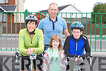 FAMILY CYCLE: Having great fun at the Na Gaeil GAA fundraising family cycle on Saturday l-r: Kathleen, Gerard, Ava and Dean Ladden, Kell, Castlemaine.
