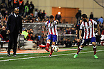 Atletico de Madrid´s Gabi and Arda Turan and Valencia coach Nuno Espirito Santo CF´s  during 2014-15 La Liga match between Atletico de Madrid and Valencia CF at Vicente Calderon stadium in Madrid, Spain. March 08, 2015. (ALTERPHOTOS/Luis Fernandez)