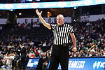 WINSTON-SALEM, NC - FEBRUARY 24: Referee Jamie Luckie. The Wake Forest University Demon Deacons hosted the University of Notre Dame Fighting Irish on February 24, 2018 at Lawrence Joel Veterans Memorial Coliseum in Winston-Salem, NC in a Division I men's college basketball game. Notre Dame won the game 76-71.