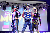 LONDON, ENGLAND - JUNE 3: Kim Sasabone, Robin Pors and Denise Post-Van Rijswijk of 'Vengaboys' performing at Mighty Hoopla at Brockwell Park, Brixton on June 3, 2018 in London<br /> CAP/MAR<br /> &copy;MAR/Capital Pictures