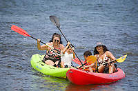 Kayaking the Anahulu River near Anahulu Bridge, Haleiwa, North Shore of Oahu