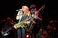 LONDON, ENGLAND - SEPTEMBER 8: Candy Dulfer and Dave Stewart performing at Shepherd's Bush Empire on September 8, 2017 in London, England.<br /> CAP/MAR<br /> &copy;MAR/Capital Pictures