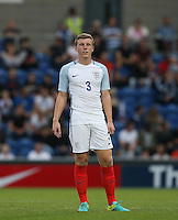 Matt Targett (Southampton) of England during the International EURO U21 QUALIFYING - GROUP 9 match between England U21 and Norway U21 at the Weston Homes Community Stadium, Colchester, England on 6 September 2016. Photo by Andy Rowland / PRiME Media Images.
