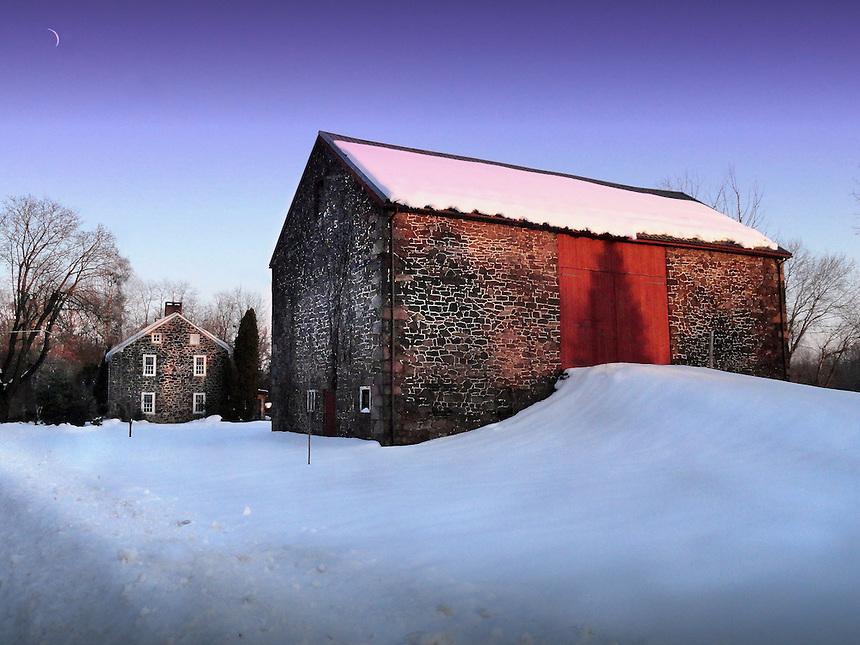Pennsylvania Stone Barn and house