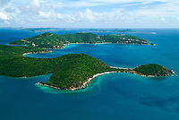 Aerial view of Turner Point<br /> St. John<br /> U.S. Virgin Islands