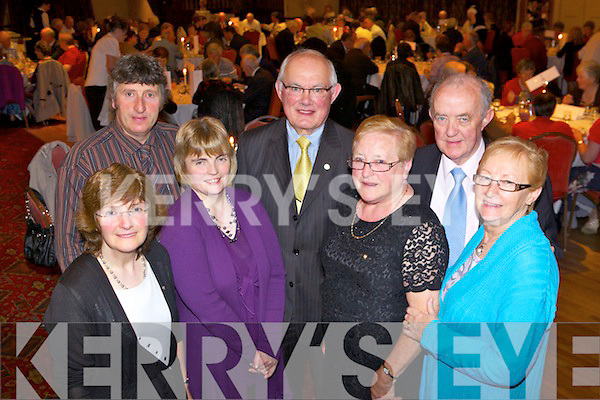 Members of the West Limerick PTTA enjoying the Annual Pioneers Dinner Dance held last Friday night in The Devon Inn, Templeglenatine, pictured l-r: Mary and Frank Lynch(Feenagh), Mary Moore(Adare), Richard and Patricia Nolan(Newcastle West) and Michael and Kitty  O'Sullivan(Pallaskenery).