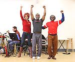 Michelle Williams & Adesola Osakalumi & Gelan Lambert rehearsing for the touring company of 'FELA!'  at the Pearl Studios in New York City on 1/23/2013