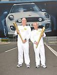 Paul Kelsey and nigel roberts at the Olympic Torch Relay at MINI Plant Oxford on Monday 9th July 2012  Picture By: Brian Jordan / Retna Pictures.. ..-..