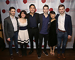 """Matthew Cohen, Zhenni Li, Henry Wang, Maximilian Morel, Mari Lee and Ari Evan attend the Opening Night Celebration for Ensemble for the Romantic Century Off-Broadway Premiere of<br />""""Maestro"""" at the West Bank Cafe on January 15, 2019 in New York City."""