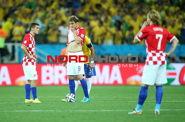 2014 Fifa World Cup opening game from group A against Brazil and Croatia.<br /> Nikica Jelavic, Mateo Kovacic<br /> <br /> Foto &copy;  nph / PIXSELL / Sajin Strukic