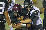 Torrance, CA 09/20/13 - Gabe Gonsalves (Torrance #2) and Ryan Augello (Peninsula #29) in action during the Palos Verdes Peninsula vs Torrance varsity football game at Torrance High School.