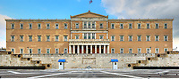 The Greek parliament on Syntagma square in Athens