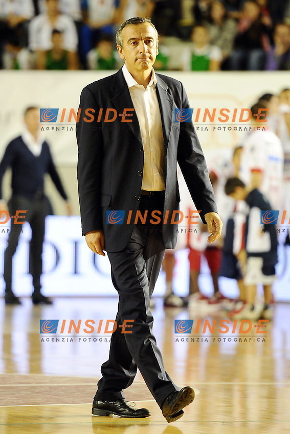 Lino Lardo, allenatore della Virtus Roma..Roma, 29/10/2011 PalaTiziano.Basket Campionato di Pallacanestro serie A1.Virtus Roma vs Cimberio Varese.Foto Insidefoto Antonietta Baldassarre